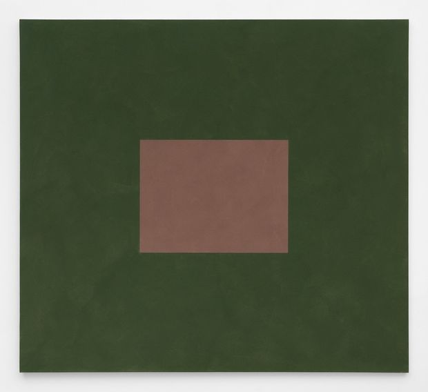 Peter Joseph, Light Red Brown with Green, 2001, acrylic on canvas, 150 x 166 cm